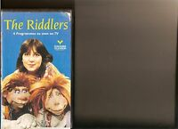 THE RIDDLERS VIDEO VHS KIDS 4 STORIES MOSSOP RARE