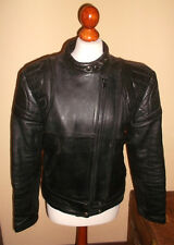 vintage 80`s oldschool Motorrad Lederjacke leather jacket punk moto Gr.40 M