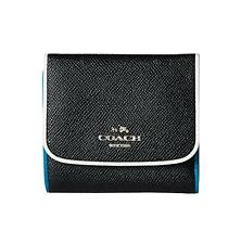 New With Tag COACH Small Silver Black Tricolor wallet in Edgestain leather-55296