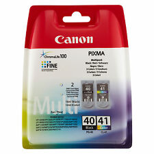 2 ORIGINALI CANON PG40+CL41 PER Canon Pixma MX310 MP220 MP140 MP450X IP2600