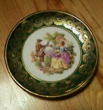 VTG Limoges France Fragonard Butter Pat Plate Victorian Courting Scene Le Palbec