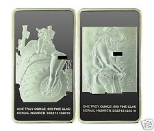 Rare WORLD of FARM GIRL In 1oz SILVER CLAD ART BAR- Nice - Pic Included - 1afk