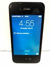 Apple iPhone 4 Black 8GB Verizon Smartphone Factory Reset Clean ESN A1349