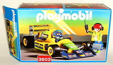 1994 PLAYMOBIL 3603 FORMULA ONE RACE CAR w/ DRIVER AND MECHANIC---NEAR COMPLETE!