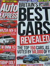 AUTO EXPRESS MAGAZINE APR #1316 BRITAIN'S BEST CARS BMW X3 MAZDA MX-5 GOLF 295 B