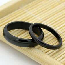 Black Stainless Steel Couple Lovers Finger Ring Jewelry Gift Man US Size 8