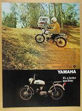 1969 Yamaha 100 Trailmaster L5-T motorcycle photo vintage print Ad