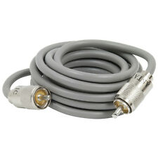 CB Radio Cable Patch Lead With Connector Pl259 ASTATIC 9FT GREY RG8X