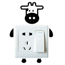 Cow Switch Wall Sticker Cute Calf Baby Kids Bedroom Home Decal Decoration