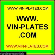 Vin-plates. COM + chassis-plates. co.uk + trailer-spare-parts. co.uk + LAND ROVER URL