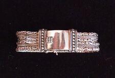 Vintage Silpada Heavy Sterling Silver Multi Strand Bracelet Large Box Clasp