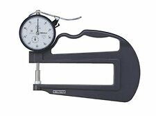 Mitutoyo 7321 Dial Thickness Gage, Flat Anvil, Deep Throat Type, 0-10mm Range