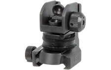 Rail Mount Rear Sight - Fully Adjustable - Dual Apertures - Picatinny / Weaver