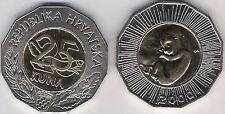 Croatia 25 Kuna bimetal Human Fetus baby Millennium 2000 EU European Union UNC