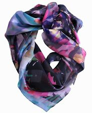 DESIGNER Silk Scarf Square ✦ 100% SILK SATIN ✦ Bright Zebra by Coco & Sebastian