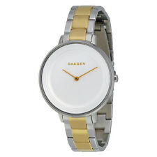 Skagen Ditte Silver Dial Two-tone Stainless Steel Ladies Watch SKW2339