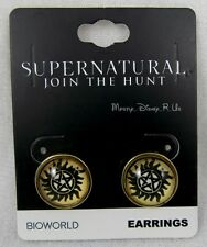 NEW CW Supernatural Anti-Possession Logo Post Stud Earrings
