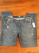 7 SEVEN FOR ALL MANKIND Jeans Josefina Boy friend Crystal 29 SALE $298 New