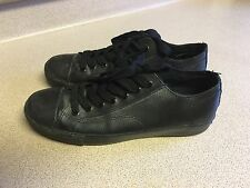 Shoes mens size 10 Wide Used man made materials leather upper black Airwalk