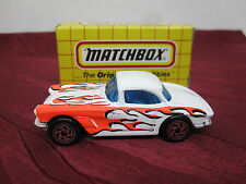 Matchbox 1-75 Superfast, 62er Corvette, Flame Tampo, selten, nur in USA