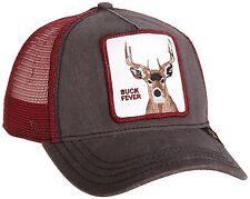 "Goorin Bros. Animal Farm Trucker Snapback Hat Cap Grey/Burgundy/""Buck Fever"""