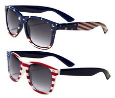 2 Pairs New Classic American Patriot Flag Wayfarer Sunglasses USA Unisex
