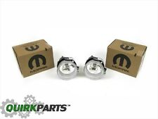 10-14 JEEP DODGE CHRYSLER DRIVING FOG LIGHT LAMP SET OF 2 OEM NEW MOPAR