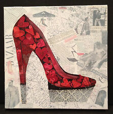 RED SHOE ORIGINAL COLLAGE ART