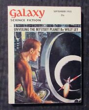 1955 Sept GALAXY Science Fiction Digest Magazine VG/FN 5.0 Willy Ley