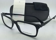 New EMPORIO ARMANI Eyeglasses EA 3030 5017 55-17 145 Black Frame w/ Clear lenses