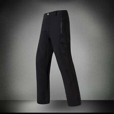 Mens Military Shark Skin Outdoor Pants Soft Shell Waterproof Fleece TAD Trousers