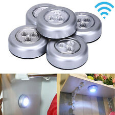 5pcs LED Battery-powered Wireless Night Light Stick on Tap Touch Lamp Lights