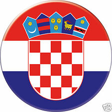 MAGNET frigo Ø56 mm coque style badge Croatie-Croatia-Croacia