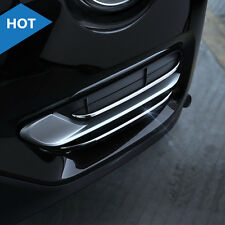 For BMW X3 F25 2014-2017 4pcs Stainless Front Bottom Fog Light Lamp Cover Trim