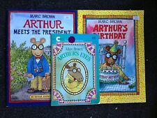 4 Marc Brown Books Arthur's Eyes Birthday Meets the President Little Witch's Big