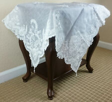 "Stunning Handmade Beaded Pearl Embroidered 36x36"" Tableclothes"