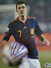 DAVID VILLA WORLD CUP SPAIN BARCELONA 8x10 inch SIGNED PHOTO BECKETT BAS COA