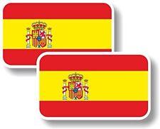 Vinyl sticker/decal Small 70mm Spain crest flag - pair