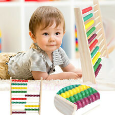 10-row Colorful Beads Wooden Abacus Counting Kid Maths Learning educational toy