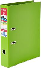 10 x ESSETLE 70mm OFFICE FOOLSCAP PLASTIC LEVER ARCH FILE LIME GREEN 48086