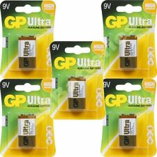 5 x GP ULTRA 9V Batteries MN1604 6LR61 PP3 BLOCK 6LF22 ALKALINE