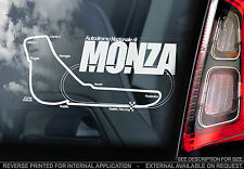 Monza - F1 Car Window Sticker - Autodromo Nazionale Track Sign Formula 1 Map