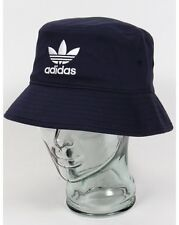 Adidas Originals - Bucket Hat in Navy Blue with Embroidered Trefoil in White