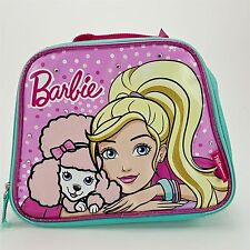 Thermos Insulated Zipper Lunch Tote Bag 7 x 9 Barbie Pink Poodle Studs NEW