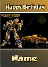 - transformers bumblebee-idéal pour son fils pour enfants personnalisé anniversaire carte