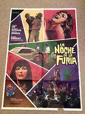 NIGHT FURY Original GUN Movie Poster BLANCA ESTRADA GLEN LEE MARIA PERSCHY