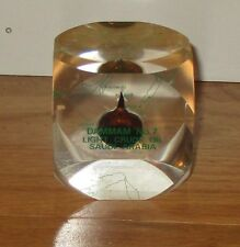 "Rare"" Dammam No 7 Light Crude Oil Saudi Arabia "" Lucite/ Acryilic  Paper Weight"