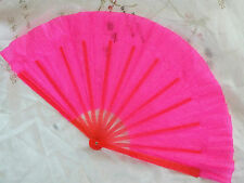 2 CHINESE JAPANESE PINK TAI CHI KUNG FU DANCE LEFT RIGHT HAND FAN NEW YEAR PARTY