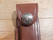 Leather Magazine case holds Jennings 22LR single clip - see photos -Buffalo nick