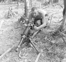 WW2 Photo WWII Captured Japanese Machine Gun  New Guinea  World War Two /1448